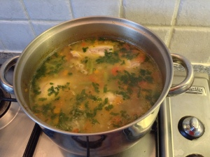 Allow veggies to boil for another half and hour. Yummy(and healthy) soup ready!