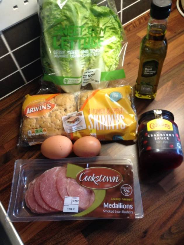 Bacon butty ingredients