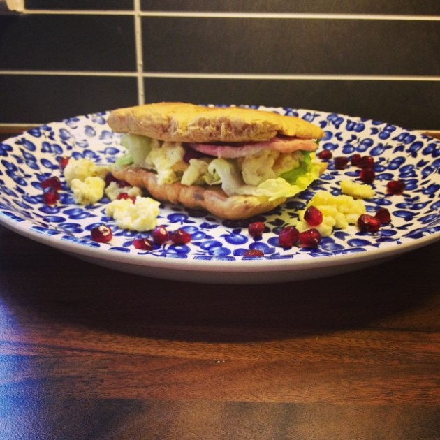 Healthy bacon butty